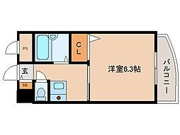 兵庫県尼崎市浜3丁目の賃貸マンションの間取り