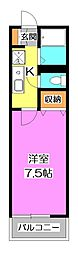 東京都練馬区中村3丁目の賃貸アパートの間取り