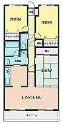 宮城県仙台市太白区柳生6丁目の賃貸マンションの間取り