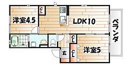 COCO Heim(ココハイム)[1階]の間取り