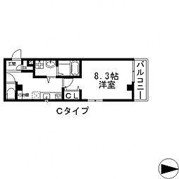 エムズコート小阪[303号室号室]の間取り