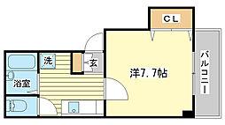 クレアトゥールOTUKA[206号室]の間取り