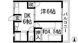 多田ノースハイツ2[2階]の間取り