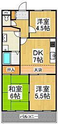 ケヤキフラッツ[4階]の間取り
