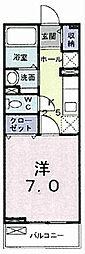 ジュ メゾン[2階]の間取り