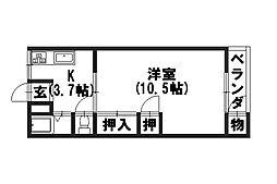 石井マンション[303号室]の間取り