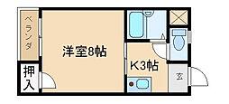 マンション一里塚[1階]の間取り