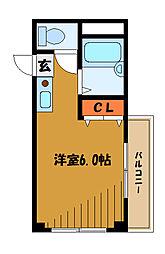 K・M kokubunji[2階]の間取り