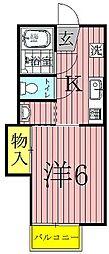 シャトルオークスA[2階]の間取り