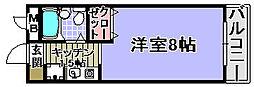 ヤマザキメゾンドファム[107号室]の間取り