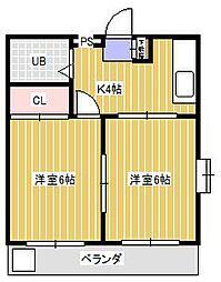フラワーマンション[3階]の間取り