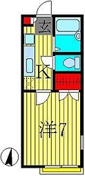 セレネ八潮[2階]の間取り