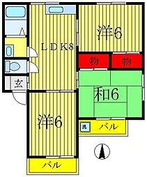 フラワーハーモニー[1階]の間取り