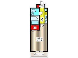 アルファコート西川口15[2階]の間取り
