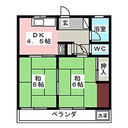 サンコーポ延珠[2階]の間取り