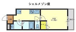 シェルメゾン優[1階]の間取り