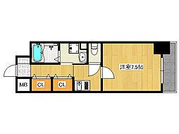 ロネスタ新深江[7階]の間取り