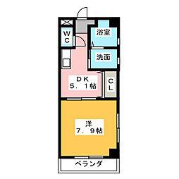 LEBENS PLATZ[6階]の間取り