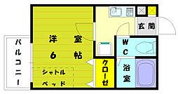 ピサ和白2[1階]の間取り