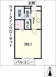 セジュール笈瀬[2階]の間取り