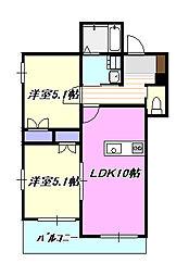 Casa Velde[2階]の間取り
