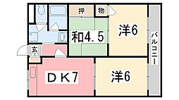 リバティーKAZU[201号室]の間取り