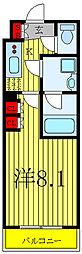 都営三田線 西台駅 徒歩10分の賃貸マンション 4階1Kの間取り