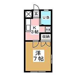 上杉コーポ[1階]の間取り