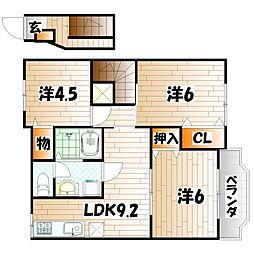 チェリー吉田[2階]の間取り