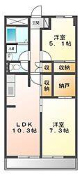 神奈川県川崎市宮前区宮前平1丁目の賃貸マンションの間取り