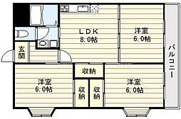 ミューズの館[6階]の間取り