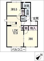 カリメーラB棟[2階]の間取り