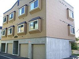 北海道札幌市清田区真栄三条2丁目の賃貸アパートの外観