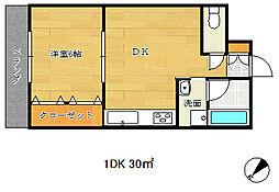 兵庫県神戸市長田区五番町7丁目の賃貸マンションの間取り