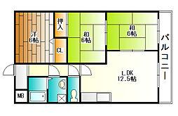 ルーラルライフ和[4階]の間取り