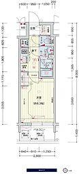 JR大阪環状線 鶴橋駅 徒歩3分の賃貸マンション 13階1Kの間取り