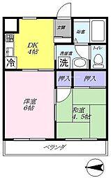 グリーンマンションA[105号室]の間取り
