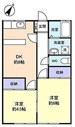 第3仲村ビル[2階]の間取り