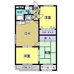 ユーミーマンション加賀谷 A[1階]の間取り