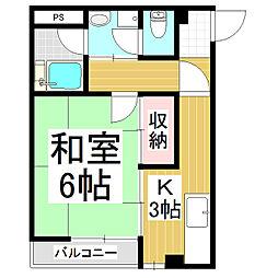 高山ビル[4階]の間取り