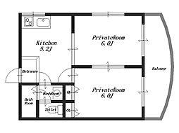 オニックスハウス[2階]の間取り