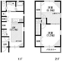 [タウンハウス] 埼玉県坂戸市関間3丁目 の賃貸【/】の間取り