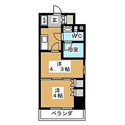 パークアクシス横濱大通り公園 2階1DKの間取り