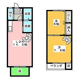 アビタシオン竹ノ山[2階]の間取り