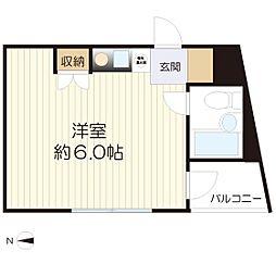 タスコハウス[405号室]の間取り