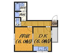 新在家マンション[301号室]の間取り
