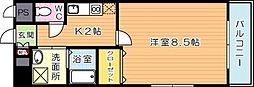 グランドコスモ[8階]の間取り