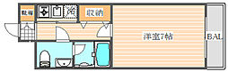 エステートモアPANO高宮[2階]の間取り