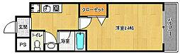京都府京都市右京区西京極橋詰町の賃貸マンションの間取り
