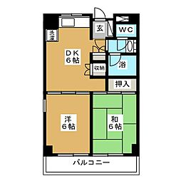 旭レジデンス[4階]の間取り